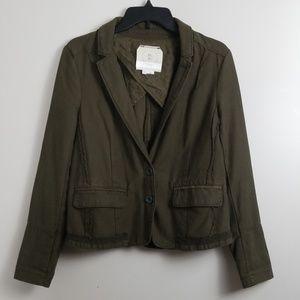 Hei Hei Anthro Dark Green Blazer Jacket Size 10